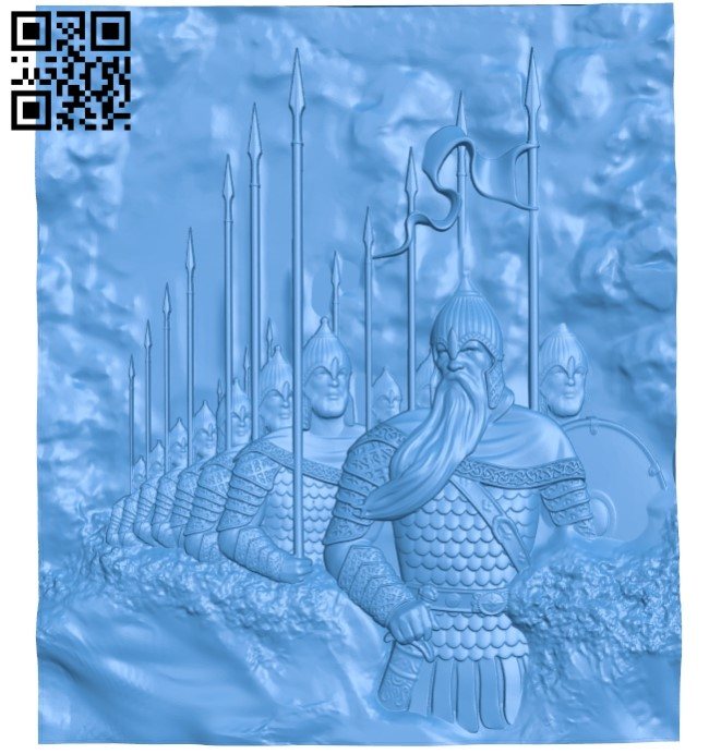 The Warriors A003804 wood carving file stl free 3d model download for CNC