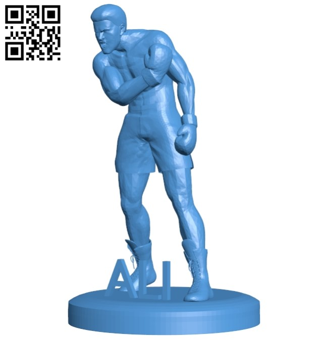 The man plays boxing B005252 file stl free download 3D Model for CNC and 3d printer