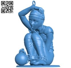 The woman is chained B004877 file stl free download 3D Model for CNC and 3d printer