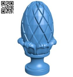 Top of the column A003776 wood carving file stl free 3d model download for CNC