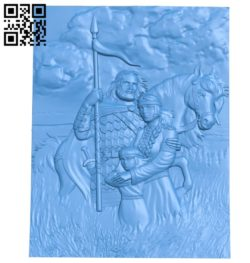 Warrior family A003800 wood carving file stl free 3d model download for CNC