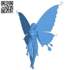 Woman with butterfly wings B004879 file stl free download 3D Model for CNC and 3d printer