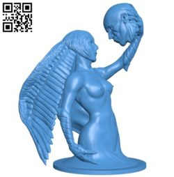 Women and Man head B005166 file stl free download 3D Model for CNC and 3d printer