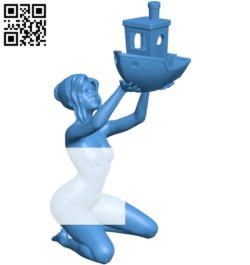 Women and ship B005139 file stl free download 3D Model for CNC and 3d printer