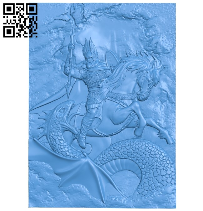 Zeus and the dragon A003806 wood carving file stl free 3d model download for CNC