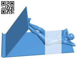 Phone or tablet holder B005226 file stl free download 3D Model for CNC and 3d printer