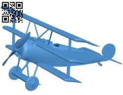 Aircraft Fokker Dr1 B005407 file stl free download 3D Model for CNC and 3d printer