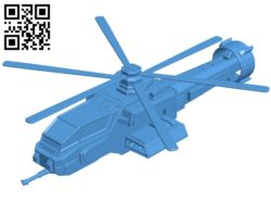 Aircraft Warrior H8 Helicopter B005336 file stl free download 3D Model for CNC and 3d printer