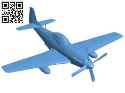 Aircraft fallout 3 mustang B005758 download free stl files 3d model for 3d printer and CNC carving