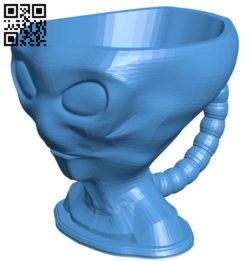 Alien cup B005639 download free stl files 3d model for 3d printer and CNC carving