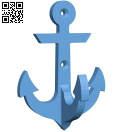 Anchor hook B005726 download free stl files 3d model for 3d printer and CNC carving