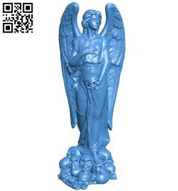Angels and skulls B005346 file stl free download 3D Model for CNC and 3d printer