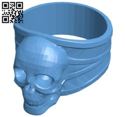 Another skull ring B005710 download free stl files 3d model for 3d printer and CNC carving