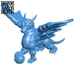 Armored dragon B005664 download free stl files 3d model for 3d printer and CNC carving