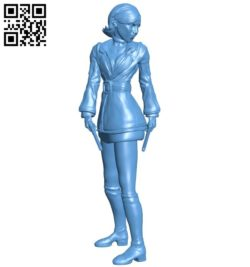 Assassin girl B005770 download free stl files 3d model for 3d printer and CNC carving