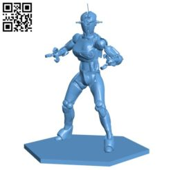 Assaultron robot B005742 download free stl files 3d model for 3d printer and CNC carving