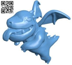 Baby dragon B005736 download free stl files 3d model for 3d printer and CNC carving