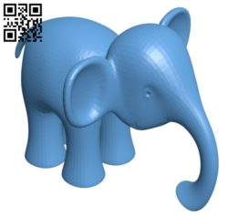 Baby elephant B005722 download free stl files 3d model for 3d printer and CNC carving