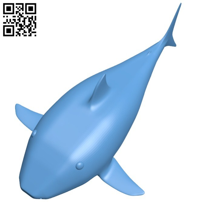 Baby shark - fish B005732 download free stl files 3d model for 3d printer and CNC carving