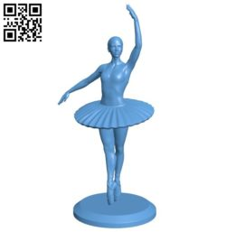 Bale dancing girl B005762 download free stl files 3d model for 3d printer and CNC carving