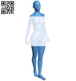 Base walking girl B005341 file stl free download 3D Model for CNC and 3d printer
