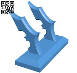 Batarang Key Holder B005340 file stl free download 3D Model for CNC and 3d printer