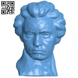 Beethoven head B005719 download free stl files 3d model for 3d printer and CNC carving