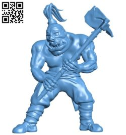 Berserker orc B005724 download free stl files 3d model for 3d printer and CNC carving