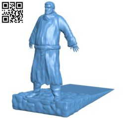 Big dude holding door without the door B005715 download free stl files 3d model for 3d printer and CNC carving