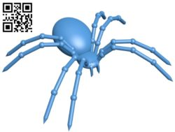 Black spider B005604 download free stl files 3d model for 3d printer and CNC carving