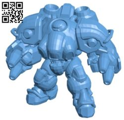 Blaze robot B005737 download free stl files 3d model for 3d printer and CNC carving
