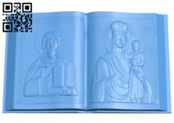 Book icon A004010 wood carving file stl free 3d model download for CNC
