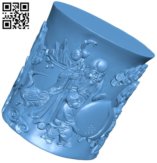 Brackets bring good luck B005787 download free stl files 3d model for 3d printer and CNC carving