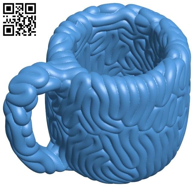 Brain mug B005375 file stl free download 3D Model for CNC and 3d printer