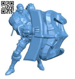 Braum warrior B005746 download free stl files 3d model for 3d printer and CNC carving