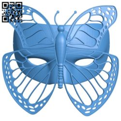 Butterfly mask B005291 file stl free download 3D Model for CNC and 3d printer