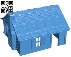 Cabin – House in the Woods B005438 file stl free download 3D Model for CNC and 3d printer