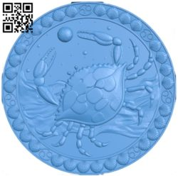 Cancer – Zodiac A004031 wood carving file stl free 3d model download for CNC