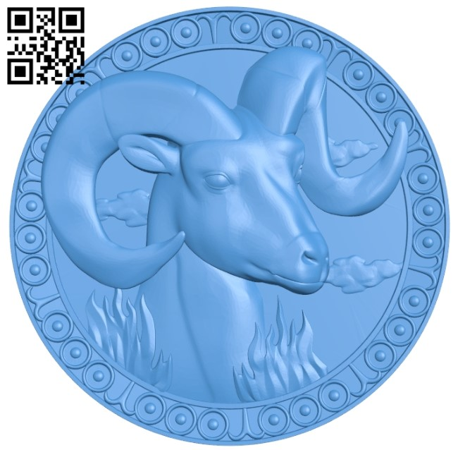 Capricorn – Zodiac A004025 wood carving file stl free 3d model download for CNC
