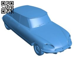 Car citroen ds 23 B005622 download free stl files 3d model for 3d printer and CNC carving