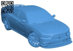 Car dodge SRT8 B005596 download free stl files 3d model for 3d printer and CNC carving