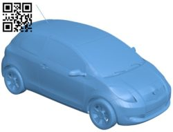 Car toyota yaris B005696 download free stl files 3d model for 3d printer and CNC carving