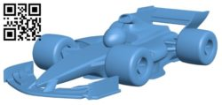 Cartoon f1 car B005740 download free stl files 3d model for 3d printer and CNC carving
