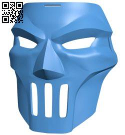 Casey Jones Mask damaged B005462 file stl free download 3D Model for CNC and 3d printer