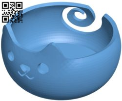 Cat sandwich bowl B005731 download free stl files 3d model for 3d printer and CNC carving