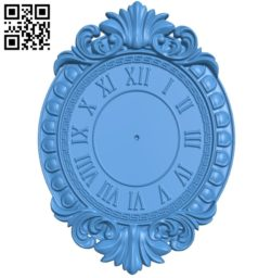 Chasy nastennye clock A004076 download free stl files 3d model for CNC wood carving