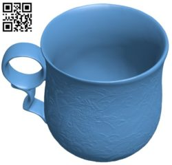 Chinese mug B005771 download free stl files 3d model for 3d printer and CNC carving