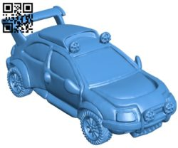 Citroen keychain car B005333 file stl free download 3D Model for CNC and 3d printer
