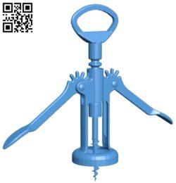 Corkscrew B005417 file stl free download 3D Model for CNC and 3d printer