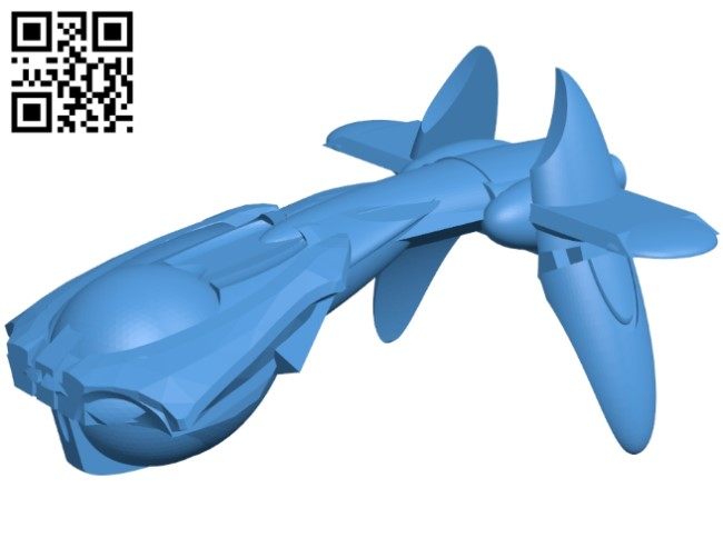 Covenant destroyer ship B005378 file stl free download 3D Model for CNC and 3d printer